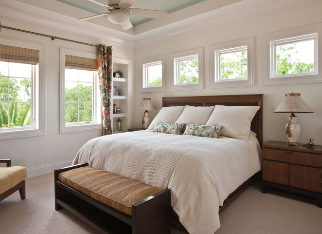 architect series traditional windows white trim bedroom